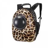 Cumpara ieftin Rucsac transport animale de companie, tip capsula, impermeabil Leopard