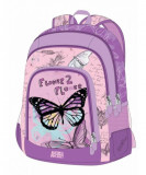 Backpack animal planet butterfly
