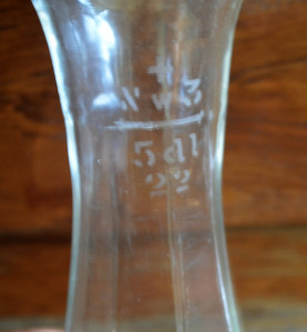 Sticlarie laborator, sticla veche, masura volumetrica pentru tuica toi 500ml