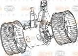 Ventilator, habitaclu BMW Seria 6 (E63) (2004 - 2010) HELLA 8EW 351 040-651