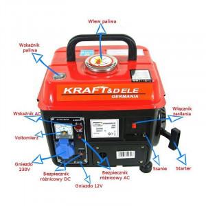 Generator electric pe benzina 800W 1200W 12/230V KreaftDele KD102