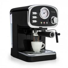 Klarstein Espressionata Gusto, mașină de cafea espresso, 1100 W, 15 bar, neagră