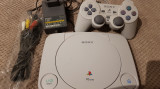 Consola Sony Playstation 1, PS One, PS1 completa 1 maneta originala,1 joc bonus.