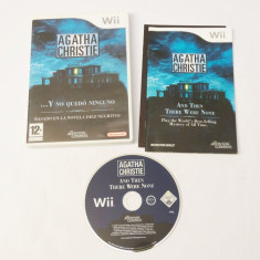 Joc Nintendo Wii - Agatha Christie And Then There Were None, Actiune, 12+, Single player