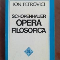 Schopenhauer opera filosofica- Ion Petrovici