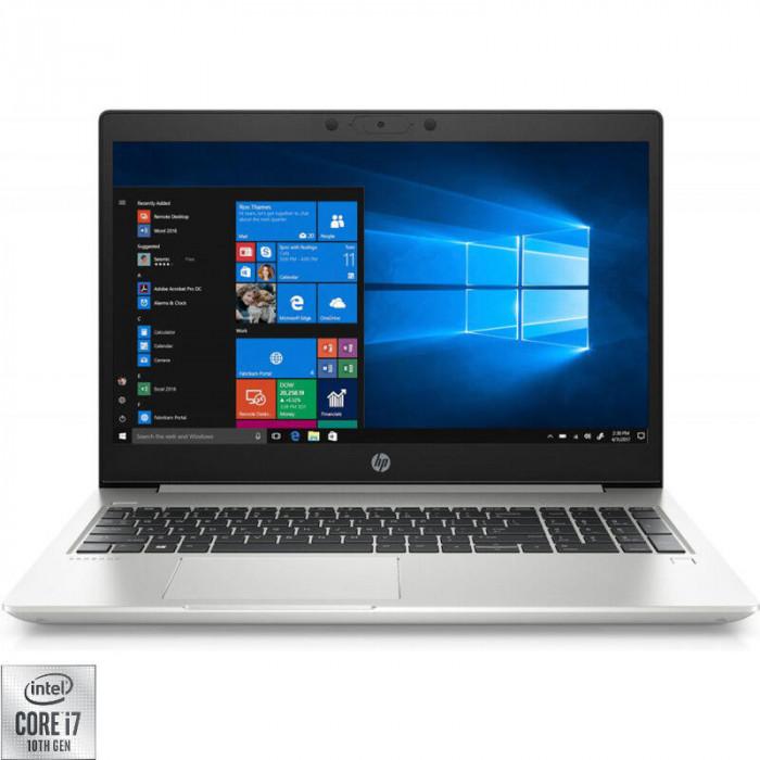 Laptop HP 15.6'' ProBook 450 G7, FHD, Procesor Intel® Core™ i7-10510U (8M Cache, up to 4.90 GHz), 8GB DDR4, 256GB SSD, GMA UHD, Windows 10 Pro, Argint