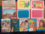 Lot calendare buzunar, anii'70-'80