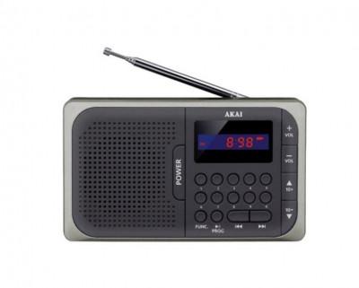 Radio portabil Akai APR-210 FM Negru foto