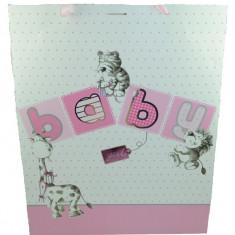 Punga pentru cadouri-Meidi Baby girl PCM15-R, Roz