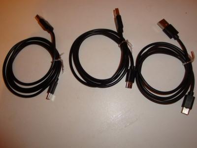 Cablu pentru incarcator telefon USB la tip C foto