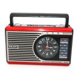Radio portabil cu functie de MP3 Player lanterna USB ceas