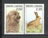 Andorra Franceza.1988 Protejarea naturii-Animale MA.82, Nestampilat