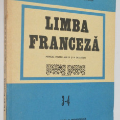 Manual limba franceza - pentru anul 3 -4  de studiu   1987 / 1984