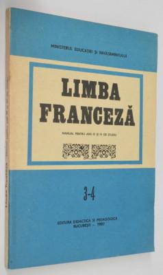 Manual limba franceza - pentru anul 3 -4  de studiu   1987 / 1984 foto