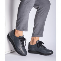 Sneakers piele naturala Gri 45