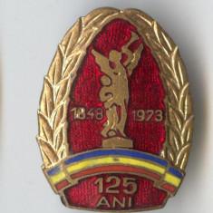 Insigna veche POMPIERI 125 de Ani 1848-1973  - Superba email