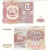 = TAJIKISTAN - 500 RUBLE - 1994 - UNC    =