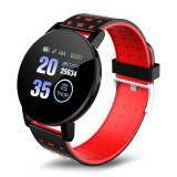 Cumpara ieftin Ceas Smartwatch Techstar® 119 Rosu, 1.3 inch IPS, Monitorizare Cardiaca, Tensiune. Oxigenare, Sedentary, Bluetooth, IP65