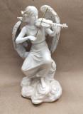 Decoratiune ingeras care canta la vioara, 30 cm