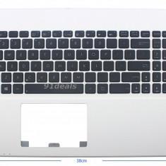 Palmrest carcasa superioara cu tastatura Laptop Asus Y582 US culoare alba