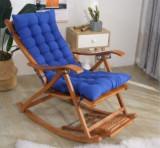 Balansoar de terasa scaun living cadru lemn rezistent perna albastru , pliabil