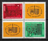 DDR - 1964 - Târgul din Leipzig - 2 valori + viniete - serie completă MNH (T44), Nestampilat