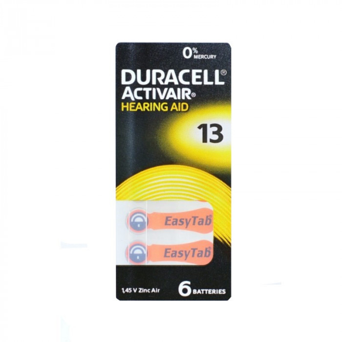 Bateri Auditive Duracell PR13