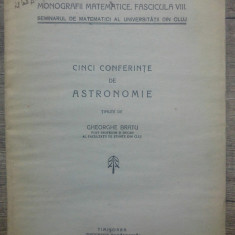 Cinci conferinte de astronomie - Gheorghe Bratu/ 1942