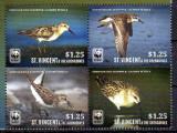 ST. VINCENT 2014, Fauna, Pasari, WWF, serie neuzata, MNH, Nestampilat