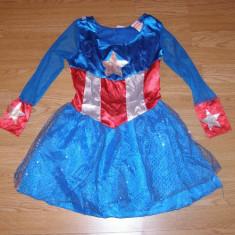 Costum carnaval serbare captain america pentru copii de 7-8 ani, Din imagine