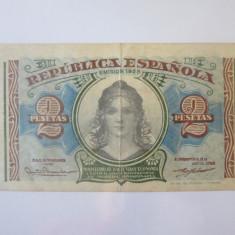 Spania 2 Pesetas 1938