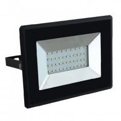 Reflector LED SMD, 30 W, 3000 K, 2550 lm, IP65, Negru