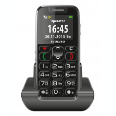 Telefon Evolveo EasyPhone, EP500, pentru varstnici, Negru