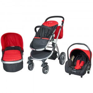 Carucior 3 in 1 Veneto rosu Kidscare for Your BabyKids