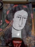 Romanian folk painting on glass - Iuliana ,Dumitru Dancu / pictura romaneasca pe sticla