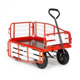 Waldbeck Ventura, cărucior de mână, sarcină maximă 300 kg, oțel, WPC, roșu