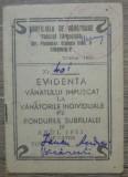 Carnet Evidenta vanatului impuscat/ Raionul Targoviste, 1951