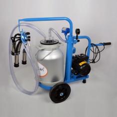 Aparat de muls vaci 1 post cu vid in cadru, bidon din aluminiu 20 litri EMTBLUE1+1A20