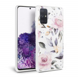 Carcasa Tech-Protect Floral Samsung Galaxy A41 White