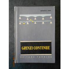CONSTANTIN N. AVRAM - GRINZI CONTINUE. TABELE DE CALCUL (1965, editie cartonata)