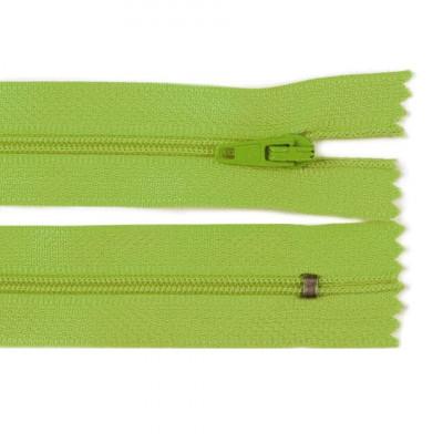 Fermoar spiralat nedetașabil cu atoblocare, lungime 10 cm, culoare verde foto