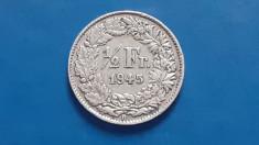 Elvetia , 1/2 Franc 1945 foto