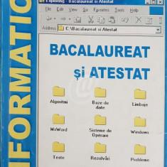 Informatica - Bacalaureat si atestat