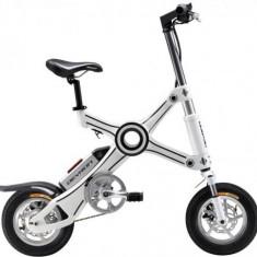 Bicicleta Electrica Pliabila Devron Folding X3, Viteza maxima 25 km/h, Autonomie 40 km, Motor 250W (Alb)