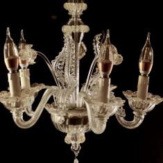Lampa venețiana din sticla de Murano, 5 brate, original