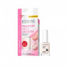 Tratament pentru cresterea unghiilor, Eveline Cosmetics, Maximum Nails Growth 12ml