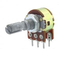 Potentiometru rotativ 50K, liniar, stereo - 161014