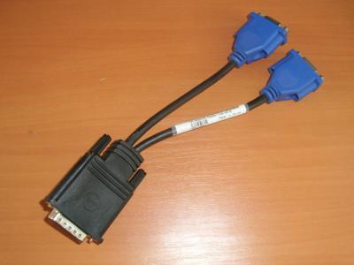 Cablu Dell DMS-59 pin Dual VGA Y-Splitter foto