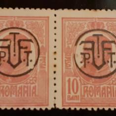 Cumpara ieftin ERROARE ROMANIA 1918 CAROL I , 10 BANI, PERECHE,SUPRATIPAR P.T.T.  spart