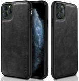 Cumpara ieftin Husa X-Level iPhone 11 Pro din silicon si piele ecologica Luxury Leather, Negru